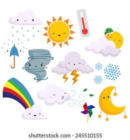weather vector set (no background)