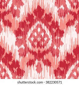Weathered damask fabric pattern seamless vector background tile