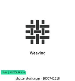 weaving icon illustration simple design element vector logo template
