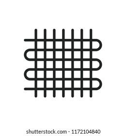 weaving vector icon