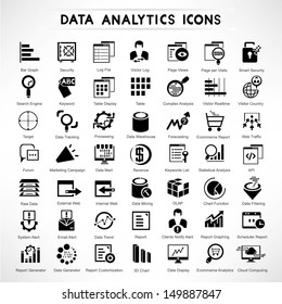 web analytic icons set, data analytic icon set