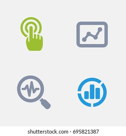 Web Analytics - Granite Icons. A set of 4 professional, pixel-perfect icons designed on a 32x32 pixel grid.