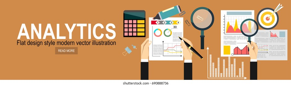 Web Analytics Information and Development Website Statistic. Concept to building successful business