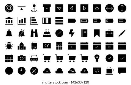 web Application glyph icon symbol set