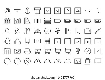 Web Application Line Icon Set