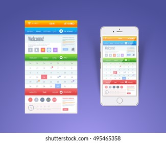 Web or Application Template, Mobile Interface Design