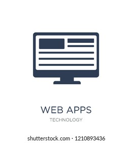 Web APPS icon. Trendy flat vector Web APPS icon on white background from Technology collection, vector illustration can be use for web and mobile, eps10
