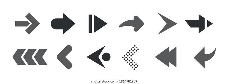 Web Arrows set icons. Arrow icon. Arrow vector collection. Modern arrows. Vector illustration