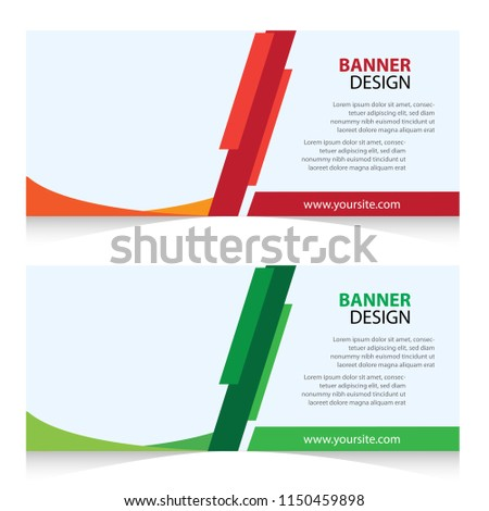 Web Banner Campaign Design Template Stock Vector Royalty Free