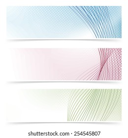Web banner colorful flyers collection - headers or footers. Vector illustration