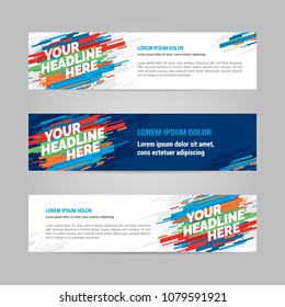 Web banner design sports invitation template. Can be adapt to Brochure, Annual Report, Magazine, Poster.