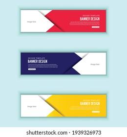 Web banner design vector illustration
