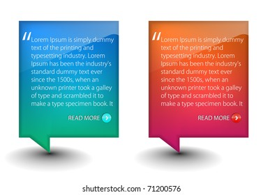 web banner elements for web templete design used.