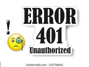 web banner - error 401 unauthorized