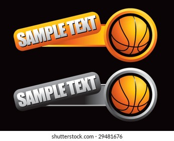 web banner featuring basketballs