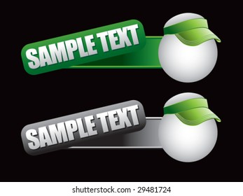 web banner featuring ping pong balls with visors