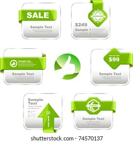 Web banner. Guarantee coupon and button for site. Discount sticker.