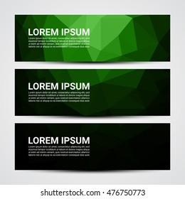 Web banner, Header layout template - Vector