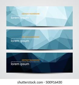 Web banner, Header layout template - Vector