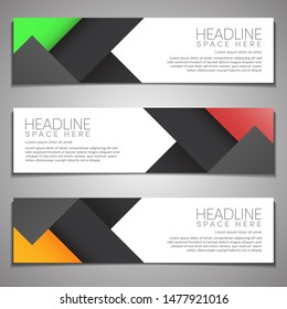 Web Banner label Background Modern Company Business Template Design Horizontal