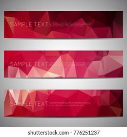 web banner modern low polygon set background design, Geometric background. eps10 vector illustration.