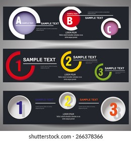 Web banner with numbers and letters