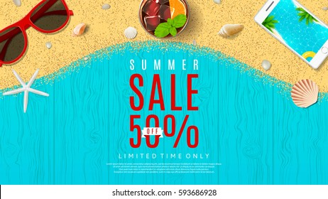 Web banner for summer sale