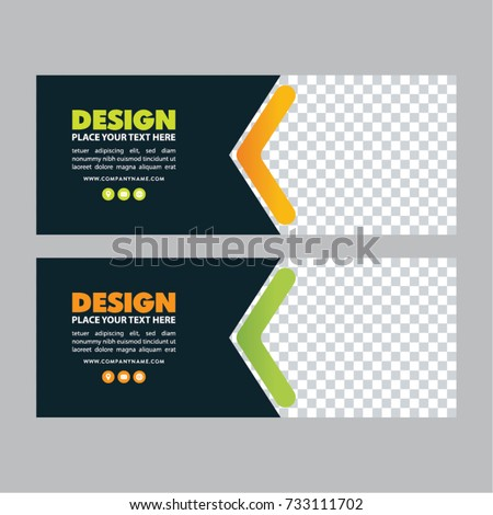 Facebook Banner Template | Web Banner Template Facebook Banner Simple Stock Vektorgrafik