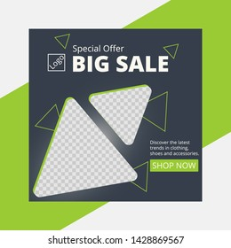 web banner template vector for sale product