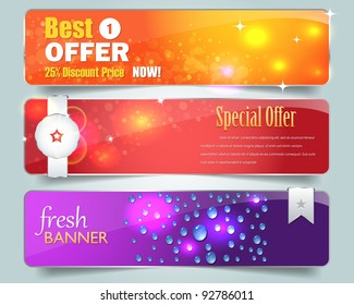 Web banner vector set