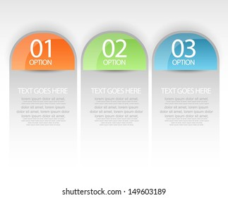 web banners with infographics options