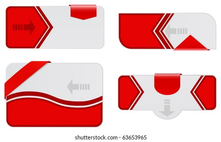 web banners with ribbons set