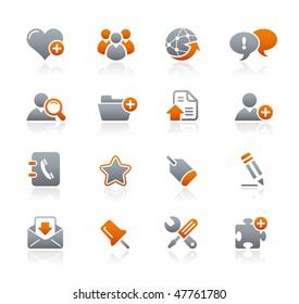 Web Blog & Internet // Graphite Icons Series