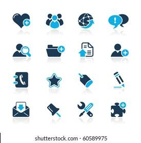 Web Blog & Internet Icons // Azure Series