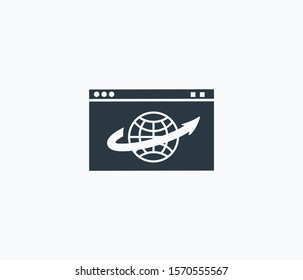 Web browser icon isolated on clean background. Web browser icon concept drawing icon in modern style. Vector illustration for your web mobile logo app UI design.