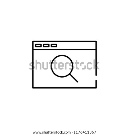 Web Browser Search Icon Element Seo Stock Vector (Royalty