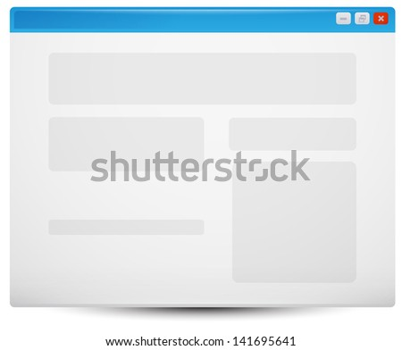 web browser template stock vector royalty free 141695641