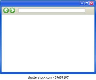 Web Browser Window for Internet Explorer Screenshot