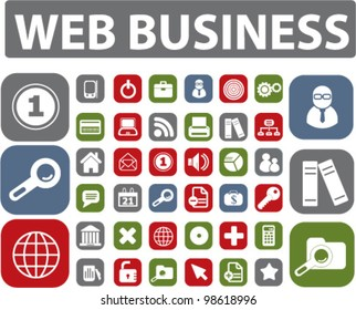 web business buttons, vector