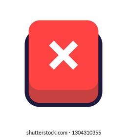web button delete icon