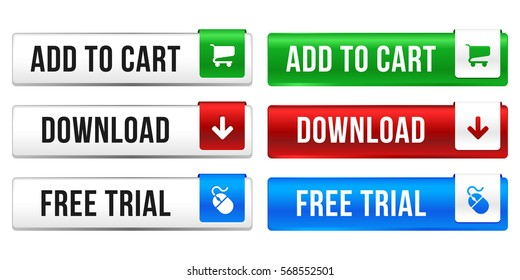 Web Button Set - Add to Cart - Download - Free Trial