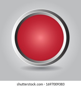 Web button with shadow. Nice graphic vector for website or application etc.