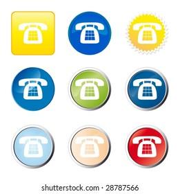 Web button - telephone