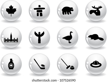 Web buttons, Canada symbols