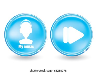 Web buttons set - my music
