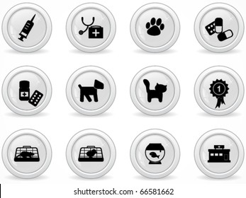 Web buttons, veterinary icons