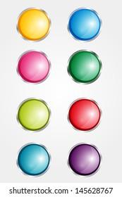 Web buttons. Website infographics.