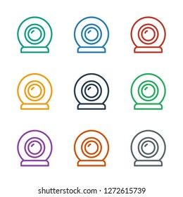 web camera icon white background. Editable outline web camera icon from smarthome. Trendy web camera icon for web and mobile.