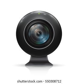 Web camera on a white background. Vector illustration.