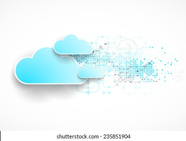 Web cloud technology business abstract background